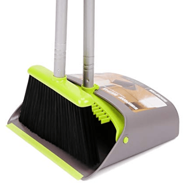 TreeLen Long Handle Broom and Dustpan Set