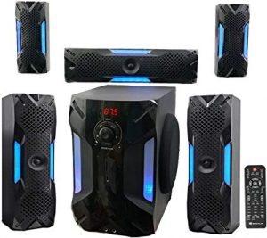 Rockville HTS56 1000 Watts 5.1 Channel Home Theater + Bluetooth + USB + 8-inch subwoofer