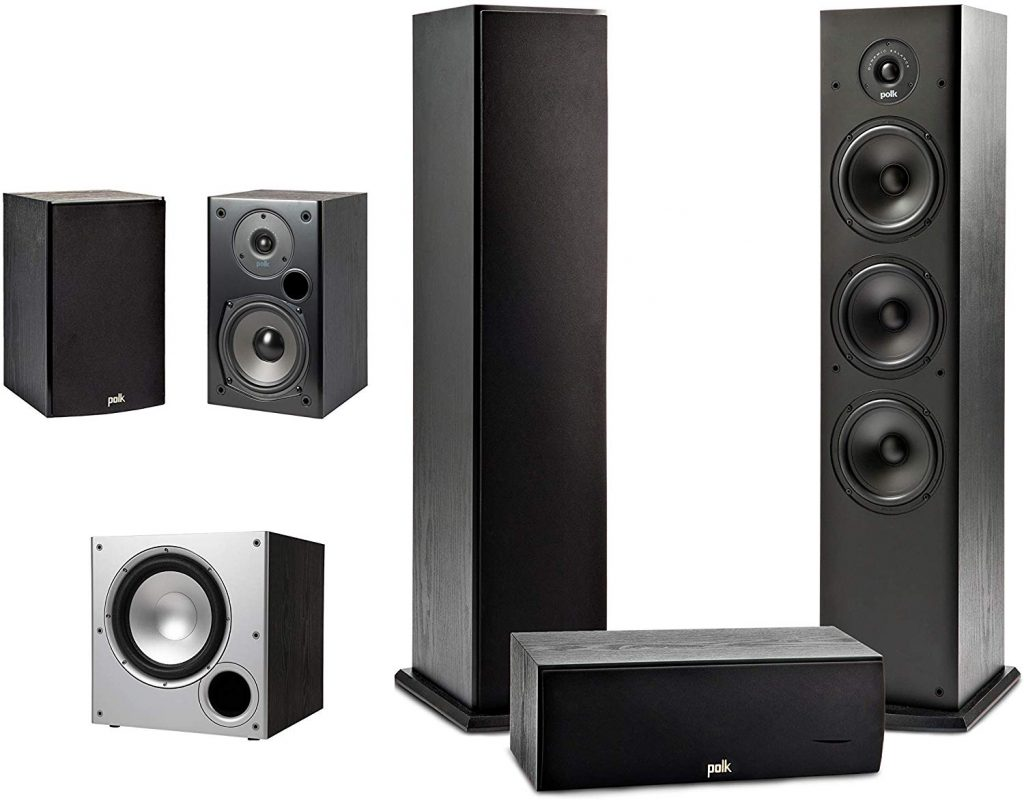 Polk Audio 5.1 Channel Home Theater System with Powered Sub-Woofer