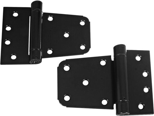 National Hardware N109-021 V289 Extra Heavy Gate Hinge in Matte Black